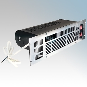 Eterna PFH2400 Base Unit Heater With Integral Controls, Thermostat, 3 Heat Settings & White/Brown/Stainless Steel Fascia 2.4kW W:480mm x H:125mm x D:220mm