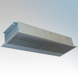 Consort RAC1306 Screenzone Aluminium 1Ph/3Ph Recessed Commercial Air Curtain With Remote Switch, 3 Heat Settings & Aluminium Grille 6.0kW L:339mm x W:1350mm x D:155mm