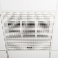 Consort HE7245RX White Wireless Controlled Recessed Ceiling Heater With White Aluminium Diffuser - Requires CRX2 Controller - Fits Standard 600mm Ceiling Panel 4.5kW L:595mm x W:595mm x D:175mm