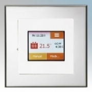 Heatmat TOU-WHT-CHRM NGTouch White Electronic Colour Touchscreen Thermostat & Timer On Chrome Faceplate For Underfloor Heating Systems 16A