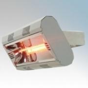 Vent-Axia 447602 VARI2000 Grey Quartz Heater With 1 x Gold Lamp & Wall Mounting Bracket 2.0kW L:486mm x W:235mm x D:313mm