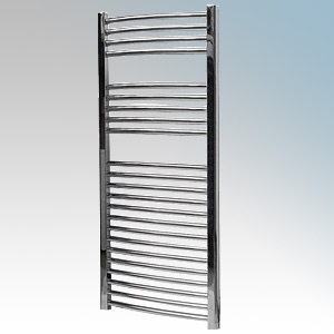 Vent-Axia 447859 VATRC250C Chrome Curved Ladder Style Towel Rail With Wall Brackets 250W W:500mm x H:1100mm x D:98mm
