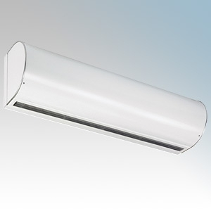 Consort HE8380 Screenzone White Large 3 Phase Air Curtain With Electronic Controller + Temperature Sensor 24kW 415V H:424mm x W:2138mm x D:350mm