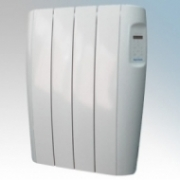 Vent-Axia 448470 VAAR750 Opal White Aluminium Low Energy Electric Radiator With Programmble Digital Controls & Wall Mounting Brackets IP24 750W W:620mm x H:584mm x D:96mm