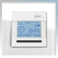Heatmat NGT-IVR-WHTE Designer Programmable Thermostat With White Glass Frame & Ivory Fascia 3600W 16A
