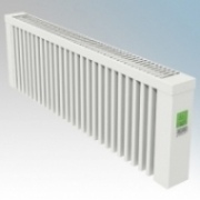 ElectroRad AF12 Aeroflow White Low Energy Fireclay Core Conservatory Electric Radiator With Digital Room Thermostat & Programmer 1200W W:980mm x H:300mm x D:90mm