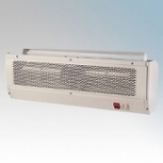 Hyco MAC3X Maestro White Steel Warm Air Curtain With 3 Heat Settings & Fixing Bracket 3kW W:630mm x H:205mm x D:105mm