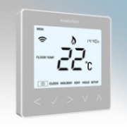 Heatmat NEO-16A-SILV neoStat-e Silver Electronic Programmable Thermostat & Timer With Blue Backlit Display 3600W 16A
