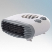 Hyco FH-201Z Fiji White Portable Letterbox Style Fan Heater With 3 Heat Settings & Thermostat IP20 2kW W:270mm x H:130mm x D:280mm