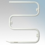 Consort TRJ60 Toweldry White Wall Mounting Tubular Steel Electric Towel Rail IP24 60W H:665mm x W:495mm x D:86mm