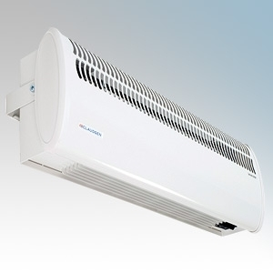 Consort HE7420 Screenzone White Air Curtain With Integral Controls, Adjustable Air Flow Direction & Bracket For Single Doorways 4.5kW H:211mm x W:634mm x D:121mm