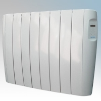 Vent-Axia 448473 VAAR1500 Opal White Aluminium Low Energy Electric Radiator With Programmble Digital Controls & Wall Mounting Brackets IP24 1500W W:1100mm x H:584mm x D:96mm
