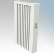 ElectroRad AF01D Aeroflow White Low Energy Fireclay Core Electric Radiator With Digital Room Thermostat & Programmer 650W W:380mm x H:610mm x D:90mm