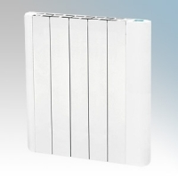 Hyco AVG900T Avignon White Slimline Low Curved Energy Electric Radiator With Digital Thermostat & Timer IP20 900W W:560mm x H:575mm x D:80mm