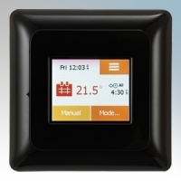 Heatmat NGT-2.0-BLCK NGTouch Black Electronic Colour Touchscreen Thermostat & Timer For Underfloor Heating Systems 16A H:82mm x W:82mm x D:40mm