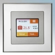 Heatmat TOU-SIL-CHRM NGTouch Silver Electronic Colour Touchscreen Thermostat & Timer On Chrome Faceplate For Underfloor Heating Systems 16A