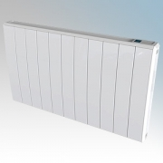 Dimplex QRAD075 Q-Rad White Electric Radiator With Pre-Set Programs, Eco-Start & Touch Control System IPX4 750W