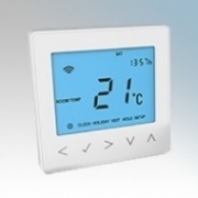 Heatmat NEO-16A-WHIT neoStat-e White Electronic Programmable Thermostat & Timer With Blue Backlit Display 3600W 16A