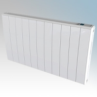 Dimplex QRAD100 Q-Rad White Electric Radiator With Pre-Set Programs, Eco-Start & Touch Control System IPX4 1000W H:546mm x W:675mm x D:105mm