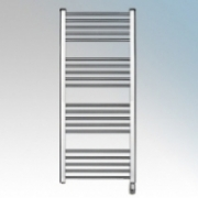 Elnur TBC12 TC Series Chrome Ladder Style Electric Towel Rail With Electronic Control & Frost Protection 600W H:1280mm x 500mm x D:80mm