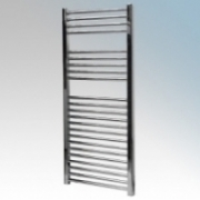 Vent-Axia 447857 VATRF250C Chrome Flat Ladder Style Towel Rail With Wall Brackets 250W W:500mm x H:1100mm x D:84mm