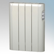 Haverland RC4A Designer RCA White 4 Element Energy Saving Electric Radiator With Thermal Safety Limiter 0.5kW