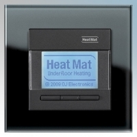 Heatmat NGT-BLK-BLCK Designer Programmable Thermostat With Black Glass Frame & Black Fascia 3600W 16A
