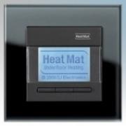 Heatmat NGT-BLK-BLCK Designer Programmable Thermostat With Black Glass Frame & Black Fascia 3600W 16A