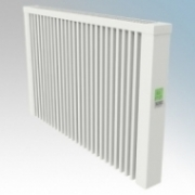 ElectroRad AF05 Aeroflow White Low Energy Fireclay Core Electric Radiator With Digital Room Thermostat & Programmer 2000W W:980mm x H:610mm x D:90mm