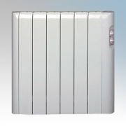 Haverland RC6A Designer RCA White 6 Element Energy Saving Electric Radiator With Thermal Safety Limiter 0.75kW