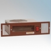 Vent-Axia 459117 VAPL2TC-B Brown Base Unit Heater With Twin Heat Settings & Integral Controls 2.0kW H:97mm x W:500mm x D:165mm