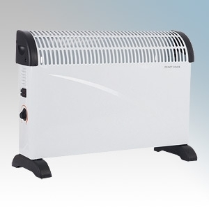Hyco SC2000YM Scirocco White Modern Portable Convector Heater With Adjustable Thermostat & 3 Heat Settings 2kW W:530mm x H:335mm x D:110mm