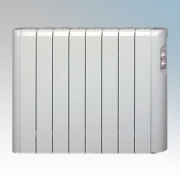 Haverland RC8A Designer RCA White 8 Element Energy Saving Electric Radiator With Thermal Safety Limiter 1.0kW
