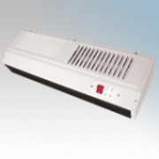 Eterna SH3WH White Warm Air Curtain With 3 Heat Settings & Adjustable Mounting Bracket 3kW L:580mm x H:135mm x D:185mm