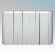 Haverland RC10A Designer RCA White 10 Element Energy Saving Electric Radiator With Thermal Safety Limiter 1.25kW