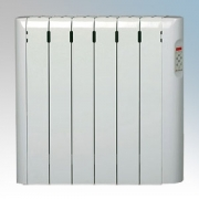 Haverland RC6E Designer RCE White 6 Element Energy Saving Electric Radiator With Pre-Programmed Temperature Settings 0.75kW