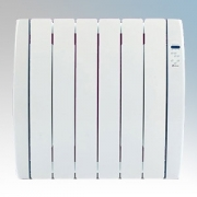 Haverland RC6TT Designer TT White 6 Element Energy Saving Curved Electric Radiator With Energy Monitor 0.75kW