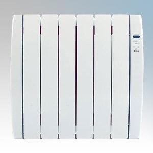Haverland RC6TT Designer TT White 6 Element Energy Saving Curved Electric Radiator With Energy Monitor 0.75kW