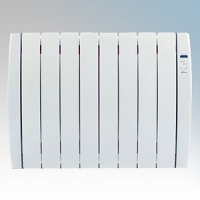 Haverland RC8TT Designer TT White 8 Element Energy Saving Curved Electric Radiator With Energy Monitor & 7 + 1 Bespoke Heating Schedules 1.0kW H:580mm x W:765mm x D:100mm