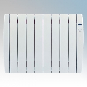 Haverland RC8TT Designer TT White 8 Element Energy Saving Curved Electric Radiator With Energy Monitor 1.0kW