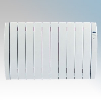 Haverland RC10TT Designer TT White 10 Element Energy Saving Curved Electric Radiator With Energy Monitor & 7 + 1 Bespoke Heating Schedules 1.25kW H:580mm x W:924mm x D:100mm