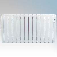 Haverland RC12TT Designer TT White 12 Element Energy Saving Curved Electric Radiator With Energy Monitor & 7 + 1 Bespoke Heating Schedules 1.5kW H:580mm x W:1083mm x D:100mm