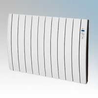 Haverland RC10INERZIATTI Designer Inerzia Dry Stone White 10 Element Energy Saving Electric Radiator With Digital Programmer & Intensified Thermal Output 1.5kW H:580mm x W:924mm x D:100mm