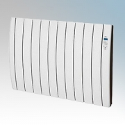 Haverland RC10INERZIATTI Designer Inerzia Dry Stone White 10 Element Energy Saving Electric Radiator With Digital Programmer 1.5