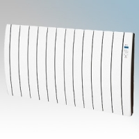 Haverland RC12INERZIATTI Designer Inerzia Dry Stone White 12 Element Energy Saving Electric Radiator With Digital Programmer & Intensified Thermal Output 1.8kW H:580mm x W:1083mm x D:100mm