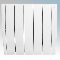 Haverland ULTRAD-5 UltraRad White 5 Element Intelligent Self Programming Low Energy Electric Radiator With Multiple Control Options & App Control 0.75kW H:585mm x W:625mm x D:100mm