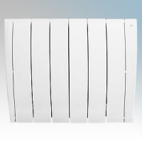 Haverland ULTRAD-6 UltraRad White 6 Element Intelligent Self Programming Low Energy Electric Radiator With Multiple Control Options & App Control 1kW H:585mm x W:725mm x D:100mm