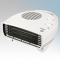 Dimplex DXFF30TS DXFF Range White Portable Flat Letterbox Style Fan Heater With Thermostat & Choice Of Heat Setting 3.0kW H:114mm x W:253mm x D:245mm