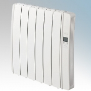 Elnur DIL6GC Diligens Series White Wireless Enabled 6 Element Oil Free Low Energy Radiator With G Control Options & Wi-Fi App Co