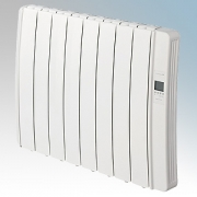 Elnur DIL8GC Diligens Series White Wireless Enabled 8 Element Oil Free Low Energy Radiator With G Control Options & Wi-Fi App Co